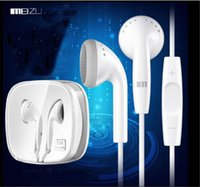 Wholesale Ep Earphones - EP21 HD MX3 MX4 MX5 Pro flat earphone with mic and volume control in-ear round cord for Meizu m1 m2 note ep-21hd.