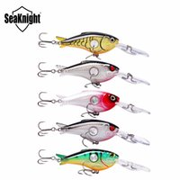 Barato Melhores Flutuadores De Pesca-5Pcs / Lot Seaknight 55Mm 10G Hard Fishing Lures Crankbait 1.8-3.9M Wobblers flutuantes Melhor manivela Hard Bait para Sea Carp Fishing Tackle