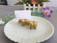 Wholesale wedding table name holders resale online - wedding favor party favors Lucky Elephant Place name Card Holder table Decoration