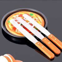 Couteaux À Beurre En Acier Inoxydable En Gros Pas Cher-Vente en gros- Hot Sale Butter Knife 6/8/10 Pouce Cream Cake Stainless Steel Smooth Knife For Cake Baking Cooking Tools