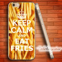 Custodia in TPU Morbido per Coque Keep Calm ed Eat Fries per iPhone 6 6S 7 Plus 5S SE 5 5C 4S 4 Custodia Cover in silicone.