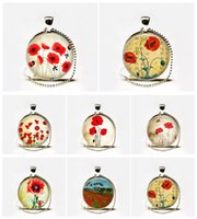 Wholesale Botanical Jewelry - Wholesale Poppies flower pendant,Red Poppies bridesmaid necklace,poppies jewelry,flower jewelry,spring flower necklace,botanical jewelry