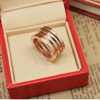 Wholesale Ring Wedding Pair Gold - fine Classic spring steel rose gold ring 18K gold pair rings for men and women