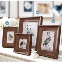 Wholesale Baby Wooden Picture Frame - 4 6 7 10 inch Vintage Picture Frame for Home Decor,Wooden-color Picture Frame,Baby Photo Frame,Good Quality 1pcs lot