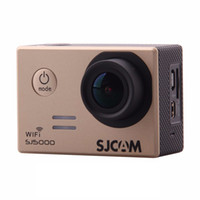Wholesale Outdoor Wide Angle Camera - SJCAM SJ5000 WIFI Sports Action Camera Novatek 96655 14MP 2.0 inch LCD 1080P 170 Degree Wide Angle Outdoor Waterproof DV Camcorder (Gold)