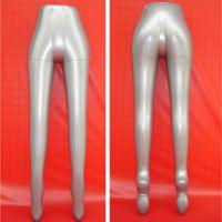 Wholesale Plastic Trousers - Free Shipping!!Hot sale New PVC Plastic Female Leg Pants Trousers Underwear Inflatable Mannequin Dummy Torso Model