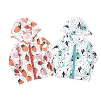 Wholesale Wholesale Childrens Sweatshirts - 2017 Boys Girls Childrens Hoodies Long Sleeve Cotton Sweatshirts Clothing Spring Summer Floral Print Hooded Outwear Enfant Boutique Clothes
