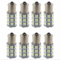 Wholesale Rv Interior Lights - 20X Super White 27 SMD RV Camper Trailer LED 1156 1141 1003 Interior Light Bulbs free shipping