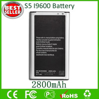 Wholesale S5 Cellphone Battery EB BG900BBC For Sam S5 I9600 SM Replacement Li ion Batteries mAh V Factory Direct Free Ship