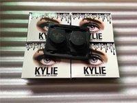 Wholesale Brown Brow Set Wholesale - New arrival kylie double Gel eyeliner 2pcs eyebrow gel + 2pcs brow brush set brown + black color