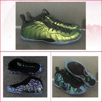 Wholesale Flat Abalone - new men air Penny Hardaway One Prm Abalone Shine cheap Dark Stucco green man basketball shoes mens running sneakers Sports shoe with box