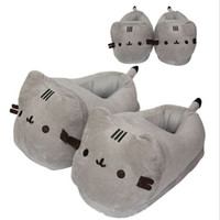 Wholesale Adult Cat Slippers - 5pcs Lot Pusheen cat Plush Slippers Anime Kawaii Pusheen Soft Plush Winter Warm Slippers Cotton Indoor Hourse Slippers For Adult -D041