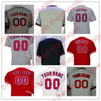 Wholesale Albert Pujols Jersey - Mens Customized #5 Albert Pujols Trout Calhoun Flex Base White Red Gray Any Name Number Stitched Jerseys S-4XL