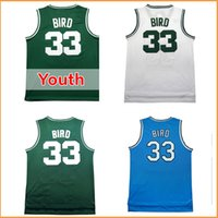 Wholesale Adult Jerseys - men's #33 Larry Bird jersey Cheap Throwback Basketball jerseys adult kids youth 100% stitched Basketball jerseys Green white Blue color