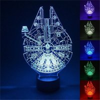 Wholesale Nightlight Stars - Free Shipping Unique The Star Wars movies characters shape 3d night light home decor Usb Led Table Desk Lamp Bedroom Nightlight