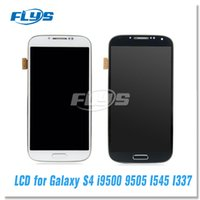 Wholesale S4 Panel - Grade AAA For Samsung Galaxy S4 9500 9505 I545 I337 M919 L720 Lcd Digitizer Display Screen Assembly Blue or white with Frame Free DHL