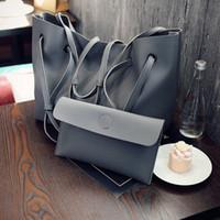 Wholesale Messenger Pieces - 2017 Handbags Fashion Shoulder Tote Bag Two-piece Messenger Bag Vintage Handbag Mother Big Bag Tide Foreign Trade Shoulder Bags for Women