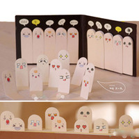 Vente en gros - 1pcs 200 Pages Kawaii Unique Scrapbooking Dix Dents Sticker Bookmark Tab Flags Mémo Book Marker Sticky Notes Office Papeterie