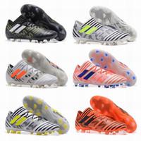 sports shoes 13249 25145 New ACE Nemeziz 17+ Purecontrol Men Shoes ACC Nemeziz 17.1 FG Shoes High  Tops Soccer Boots Laceless Soccer Cleats Football Boots
