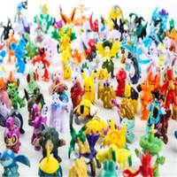 suicune figur großhandel-Poke Figuren Spielzeug Action Figuren Cartoon 2-3cm Pikachu Charizard Eevee Bulbasaur Suicune Mini Modell Spielzeug für Kinder Anime Figur DHL frei