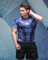 Wholesale animal t shirts bodybuilding - Wholesale- New 2018 Marvel Comic Superhero Compression Shirt Tron Legacy Tights Bodybuilding T shirt
