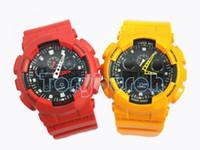 relógios de pulso venda por atacado-2016 top qualidade relogio G * 100 relógios esportivos masculinos, com todos os ponteiros trabalho cronógrafo à prova d 'água relógio de pulso, nenhuma caixa sem mannual