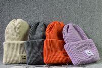 Wholesale Orange Skeleton - 8 color Unisex winter knitted Warm hats Smile Face wool Knit beanie skull caps Sports Hats Basketball Caps skeleton hat hip-hop cap