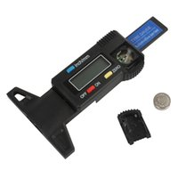 Wholesale Vernier Depth Caliper - Brand New Mini Metal Pin Car LCD Digital Display Tread Depth Gauge   Digital Vernier Caliper INS_418