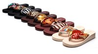Wholesale Tow Soft - Summer fashion Bohemia beach flip-flops female clamp tow slippers cool sexy elegant luxury female antiskip slippers