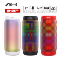 Wholesale Pro Speakers - AEC BQ-615 PRO NFC HIFI Stereo Bluetooth Speaker Colorful LED Light Flash Wireless 3.5mm Portable Subwoofer Microphone FM For Phone Tablet