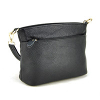 Vente en gros- Femmes Genuine Real Leather Small Handbag Shoulder Cross Body Bag Fashion Elegant Purse Lady Hobo Bucket Casual Daily Satchel Zip