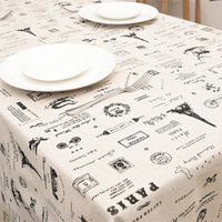 Wholesale Cotton Linen Table Cloths cm Printed Side Table Cloth Covers Dining Room Textile Decoration Home Decoration