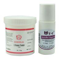 Wholesale Liquid Crystal Powder For Nails - Wholesale- New 75ml Acrylic Liquid Monomer 120g COSCELIA Acrylic Powder Set For Crystal UV False Fake Nail Art Salon Tool Manicure