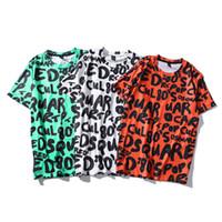 ingrosso vestiti emoji-Hot divertente grafica Emoji lettera stampato 3D manica corta T-shirt da uomo Hip Hop Tees Abbigliamento spedizione gratuita