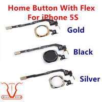 black gold parts - Original For iPhone S Home Button Flex Cable Ribbon Black Silver Gold Color Replacement Repair Spare Parts