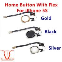 Wholesale Original Spare Parts - Original For iPhone 5S Home Button Flex Cable Ribbon Black Silver Gold Color Replacement Repair Spare Parts