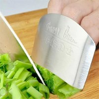 Wholesale Knife Hand Guards - Finger Guard Protect Finger Hand Not To Hurt Cut Stainless Steel Hand Protector Knife Cutting Finger Protection Tools