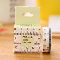 Wholesale Ruler Tape Adhesive - Wholesale- 2016 MQStyle 1Box New 1.5cm Wide Novelty Measure Ruler Washi Tape Adhesive Tape DIY Scrapbooking Sticker Label Masking Tape H20