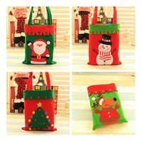 Wholesale Kid Cloth Pack - Creative four styles christmas gift bag candy bags decoration kids hand drawstring gifts snack cartoon packing IC551