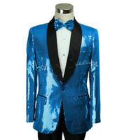 Wholesale Host Club - (jacket+pants) New male suit men sequins blazer coat singer bar nightclub costumes club costumes prom host stage wear performance clothing