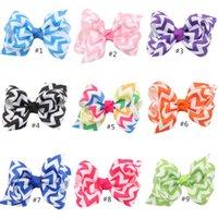 Wholesale Boutique Chevron Bows - READY TO SHIP, 13 colors rainbow chevron hair bow, chevron bow, boutique hair bow, chevron hairbow