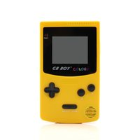 Wholesale Gb Boy - GB Boy Color Colour Handheld Game Consoles Game Player with Backlit 66 built-in games Yellow