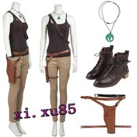 Le donne popolari di COS Lara Croft Tomb Raider Video Game 90s Fancy Dress Cosplay Outfit
