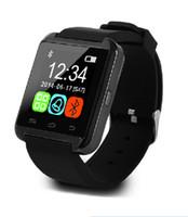 Wholesale German Outdoor Wear - Bluetooth Smartwatch U8 U Smart Watch for iPhone 6 puls 5S Samsung S4 Note 3 HTC Android Phone Smartphones Android Wear