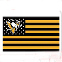 Polyester sports team banners - Pittsburgh Penguins US Flag with Stars and Stripes x5 FT Sport Team Digital Print Banner Material Polyester
