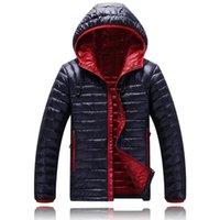 Wholesale down feather clothing - Wholesale- Sale Brand Winter 2017 Men ultralight puffer jackets Duck Jacket, Parka Clothing Hood winter feather jacket men coat