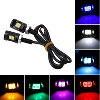 Wholesale Eagle Eyes Auto Lamps - Eagle eyes 5630 2SMD motorcycle license plate lamp Car Auto DRL Rear Back Up Brake Lights Reverse Tail Lamp Bulb DC12V