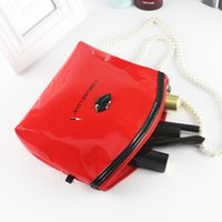 Atacado- Candy Colors Waterproof Laptop Ladies Handbag Travel PU Sacos de cosméticos Travel Storage Make Up Bag Cheap
