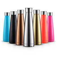 Wholesale Cola Sports Kettle Stainless Steel Coke Waters Bottle Vacuum Insulation Cup Bowling Shaped Mugs Water Bottles JU036