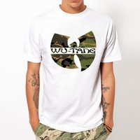 Wholesale WU TANG CLAN Fashion Unique Classic modal Men Round Collar Short Sleeve T shirt Design